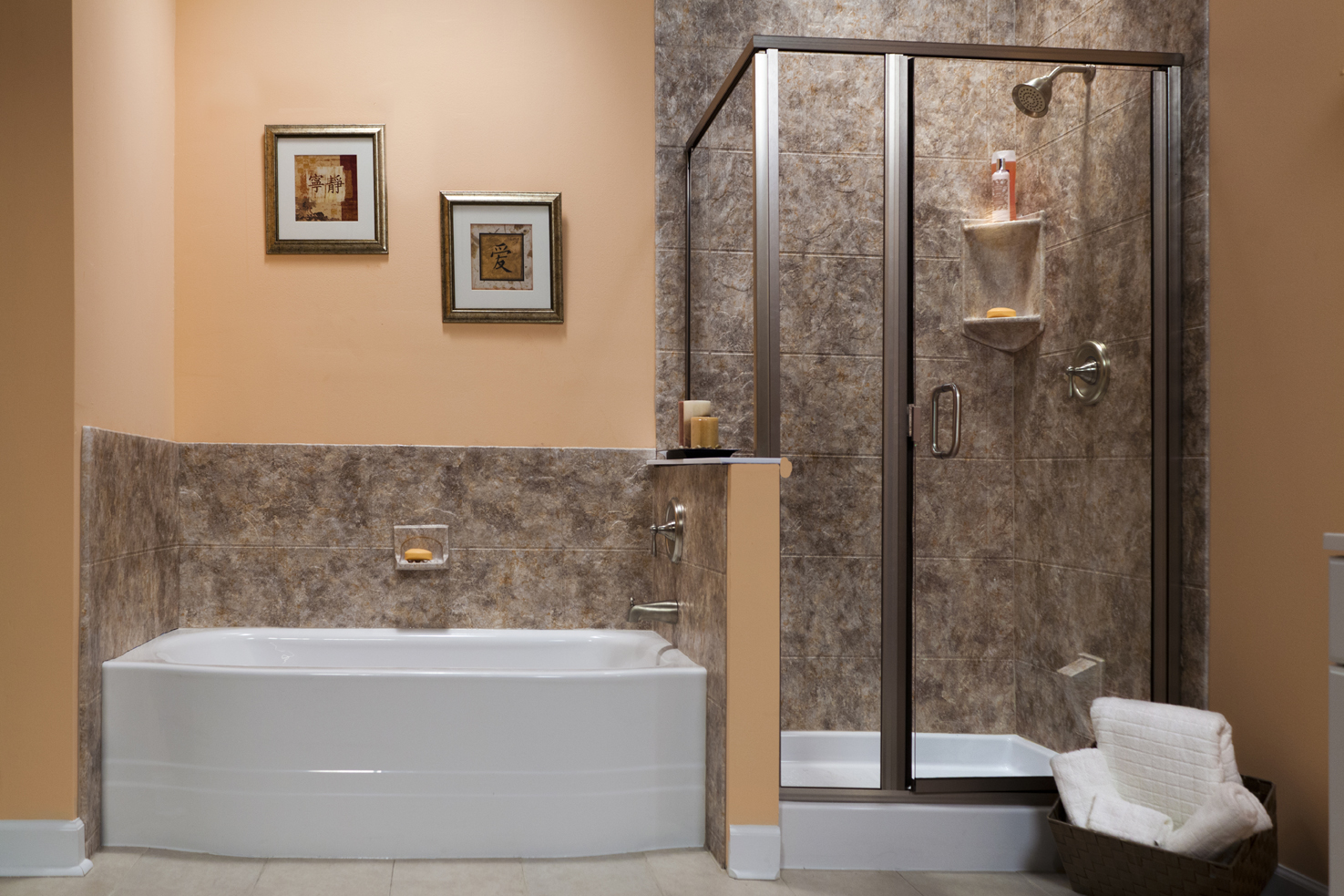 1 day bath remodel quality tub for Bathroom ideas with tub and shower